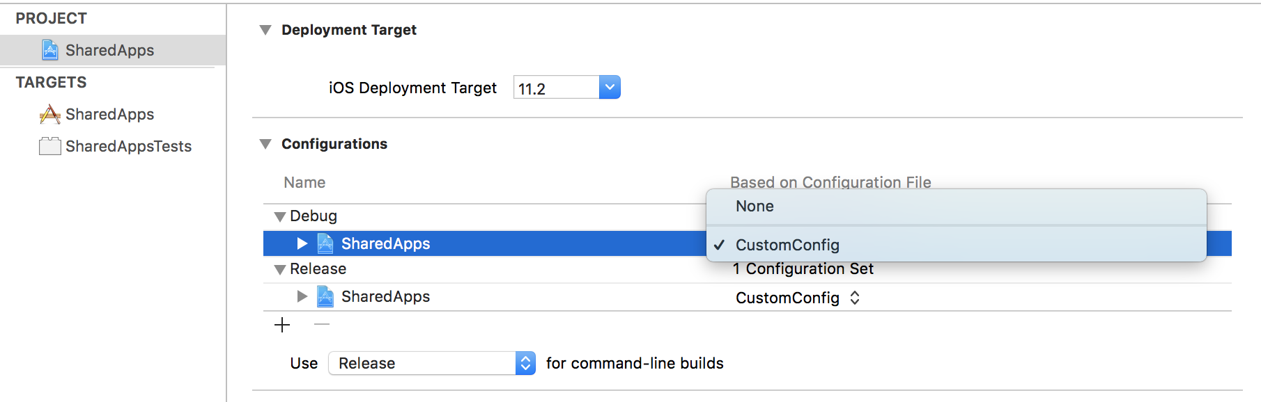 Leveraging xcconfig files in shared projects